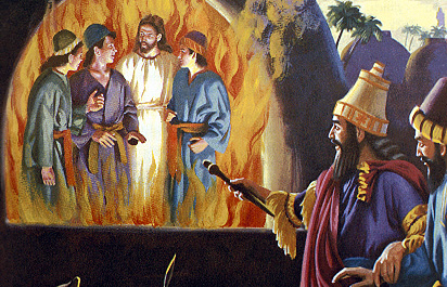 Jesus walked with Shadrach Meshach and Abednego in the fire